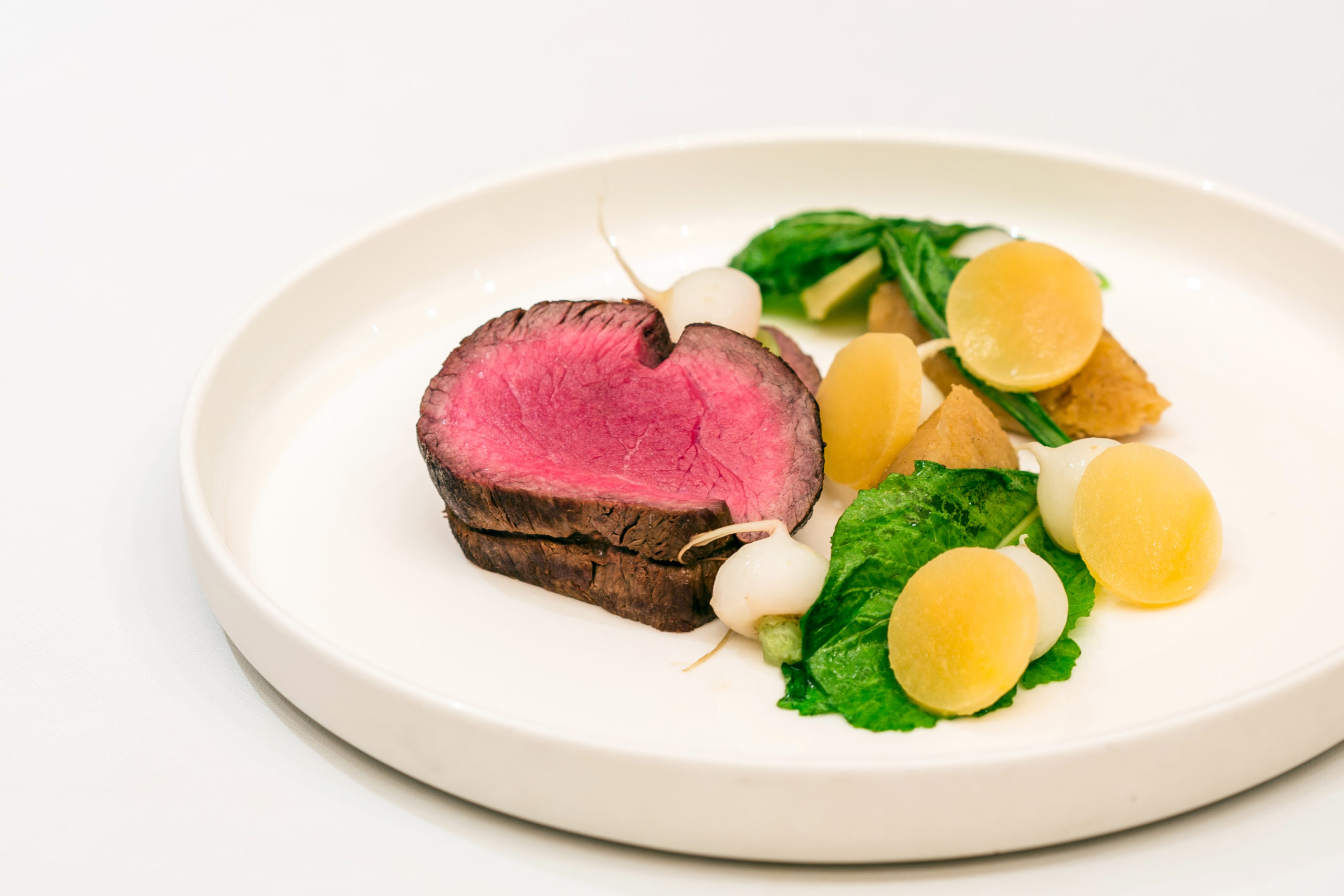 Chateaubriand with Beef and Oyster Pie and Winter Vegetables