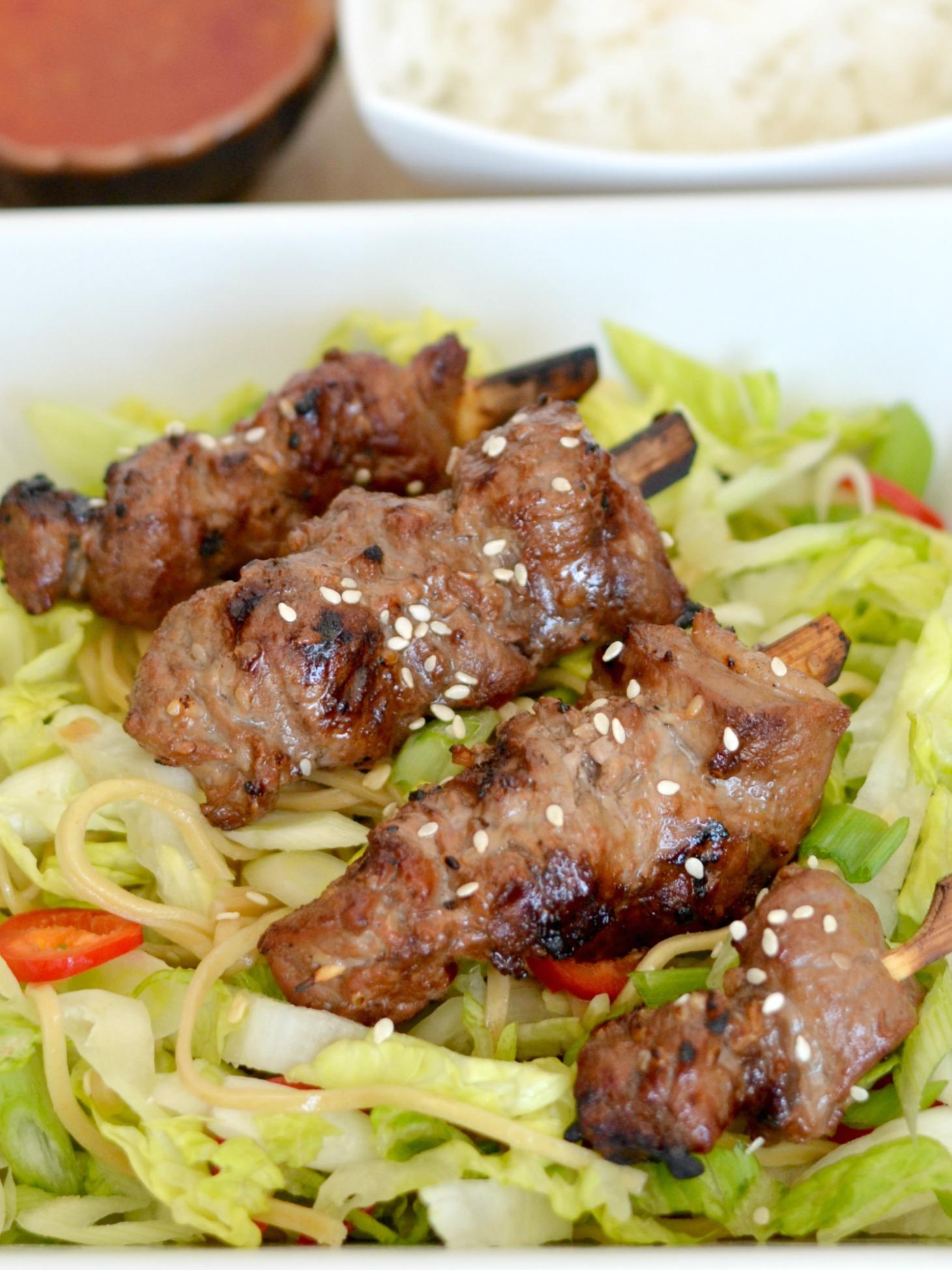 Asian Beef Skewers
